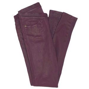 Current/Elliott Lambskin Leather Skinny Pants Fig
